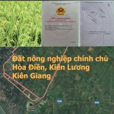 Sở hữu 20ha chính chủ bán đất nông nghiệp Hòa Điền- Kiên Lương ngay bây giờ