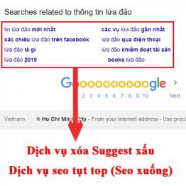 Dịch vụ seo xuống (tụt Top 10-20) xóa từ khóa gợi ý (Suggest) xấu hàng đầu
