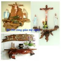 Tượng mỹ nghệ - đồ gỗ Công giáo tại nơi điêu khắc, tư vấn, thiết kế, sản xuất & lắp đặt cho mọi người