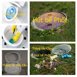 Cách thông tắc cống – hút bể phốt nhanh và dễ dàng ở Hà Nội