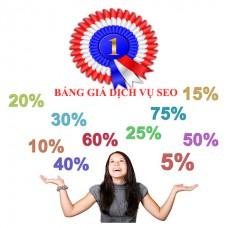 Bảng giá dịch vụ seo từ khóa Top 0-10 Google- Bing- Cốc Cốc