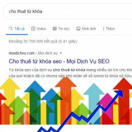 Lợi ích từ dịch vụ cho thuê từ khóa seo website top Google